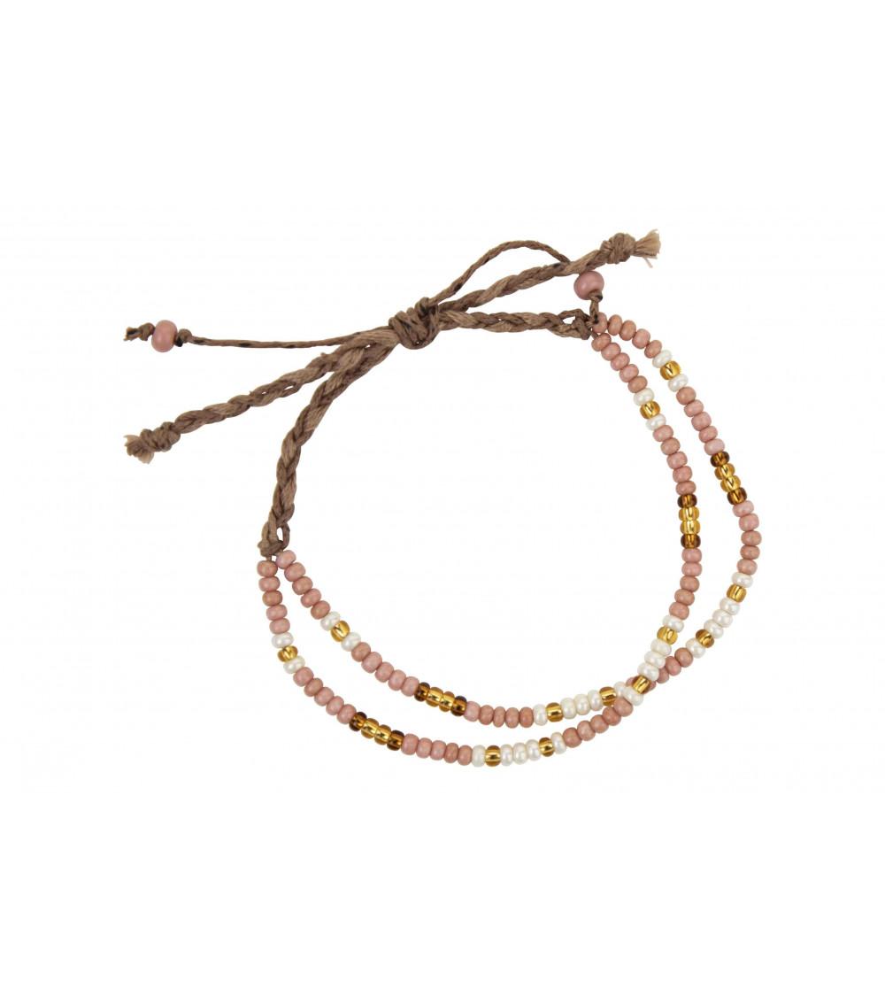 Return to Sender Morse code bracelet pink
