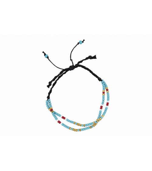Return to Sender Morse code armband blauw