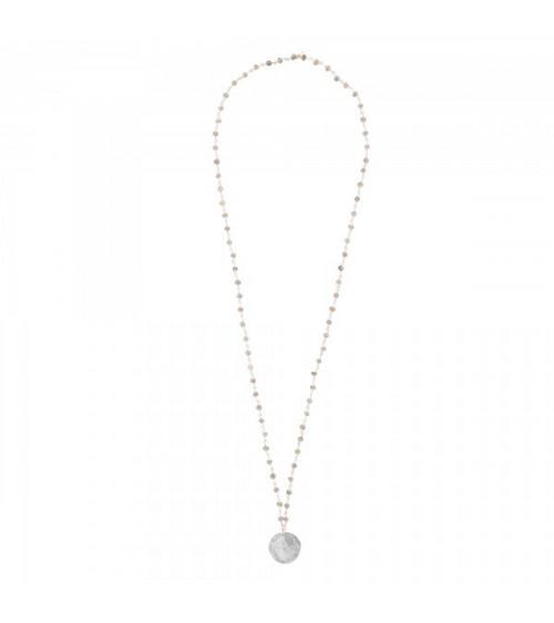 A Beautiful Story Rosary Smokey Quartz Tree silver necklace