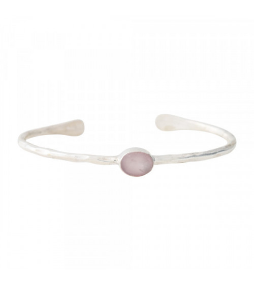 A Beautiful story Moonlight Rose Quartz Silver bracelet