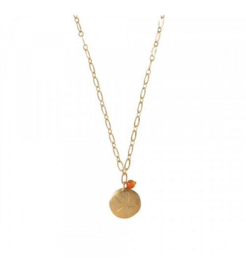 A Beautiful story Rose Carnelian Gold necklace