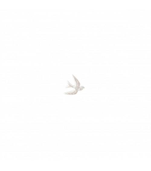 A Beautiful Story Zwaluw sterling zilver oorbel
