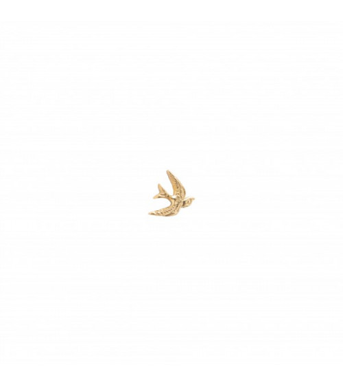 A Beautiful story Swallow Sterling Silver Gold-Plated Earring