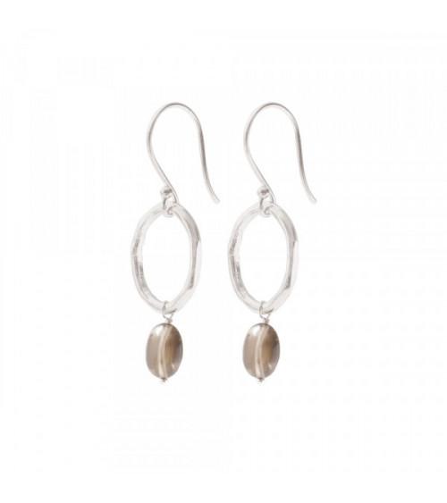 A Beautiful story Graceful Smokey Quartz Silver Earrings
