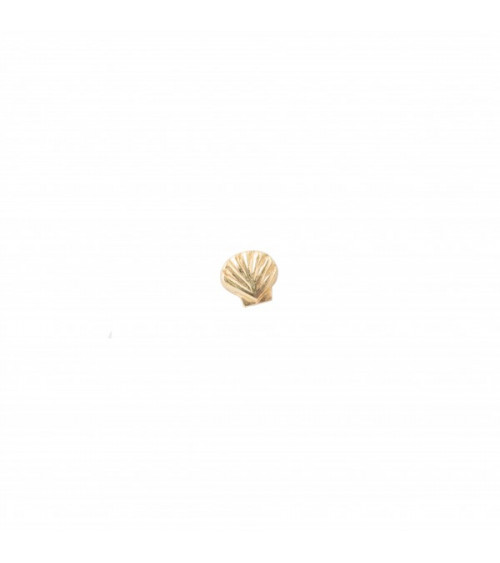 A Beautiful story Shell Sterling Silver Gold-Plated Earring