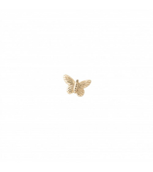 A Beautiful story Butterfly Sterling Silver Gold-Plated Earring