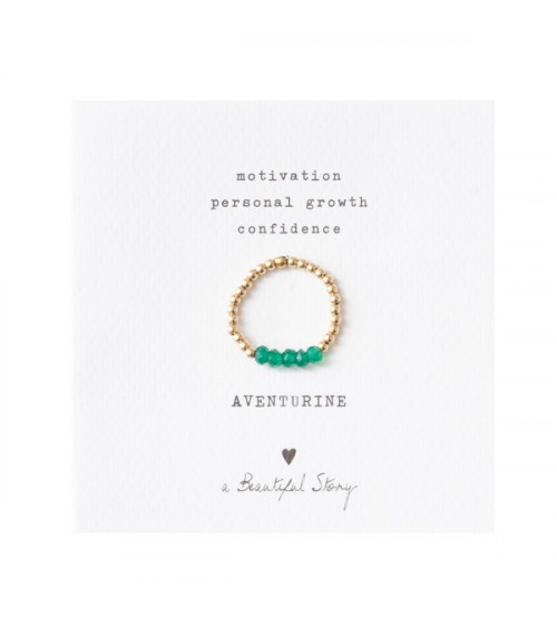 A Beautiful story Beauty Aventurine Gold Ring S/M
