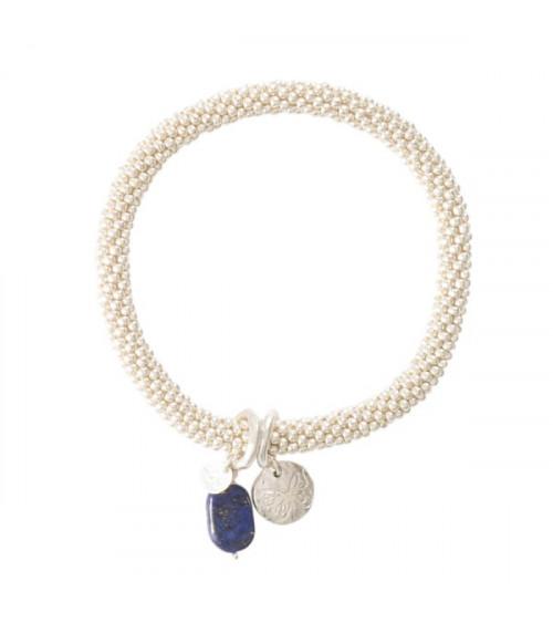 A Beautiful Story Jacky Lapis Lazuli Butterfly silver bracelet