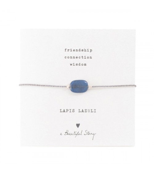 A Beautiful Story Gemstone Card Lapis Lazuli silver bracelet