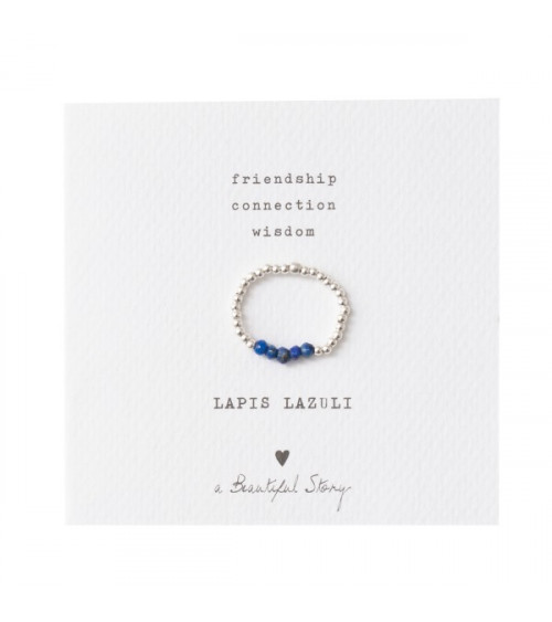 A Beautiful Story Beauty Lapis Lazuli silver ring