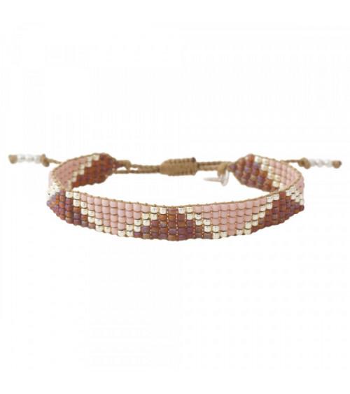 A Beautiful Story Flare Rose Quartz silver bracelet