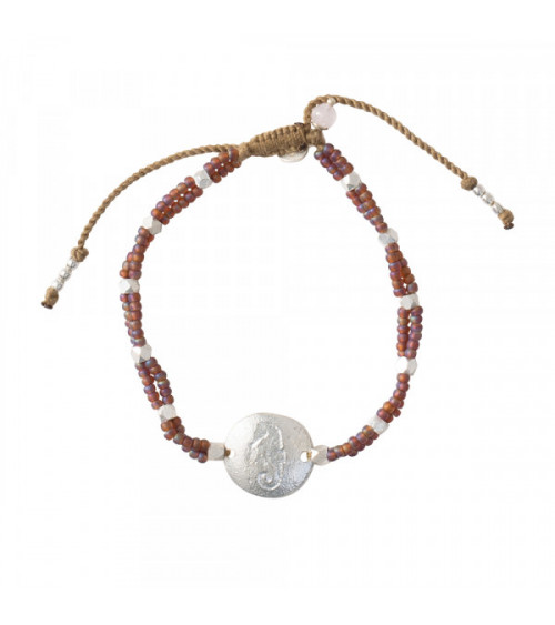 A Beautiful Story Gratitude Rose Quartz silver bracelet