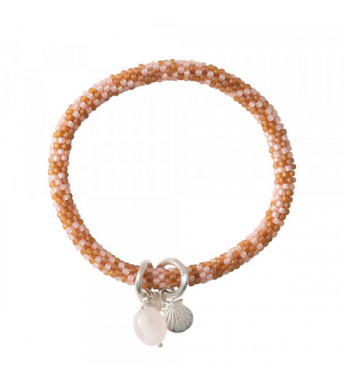 A Beautiful Story Jacky Multi Color Rose Quartz silver bracelet