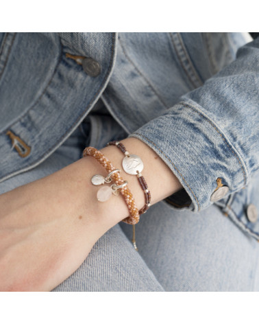 A Beautiful Story Jacky Multi Color Rozenkwarts zilver armband