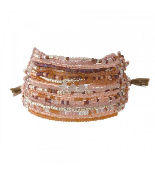 A Beautiful Story Brilliant Rose Quartz silver bracelet