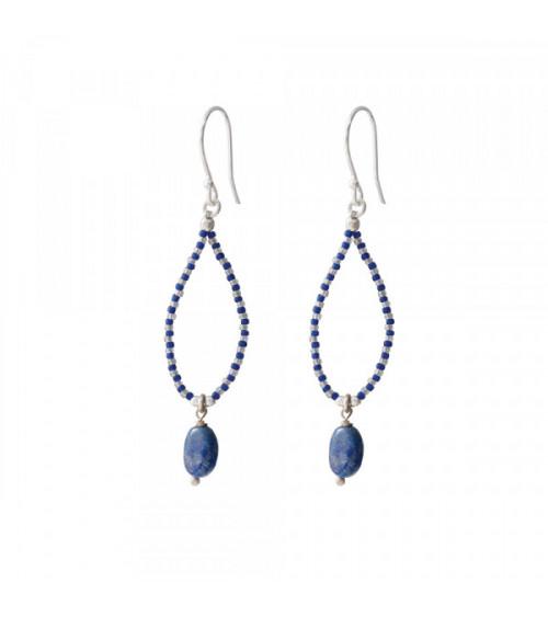 A Beautiful story Magical Lapis Lazuli Silver earrings