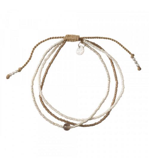 A Beautiful story Bloom Smokey Quartz Silver bracelet