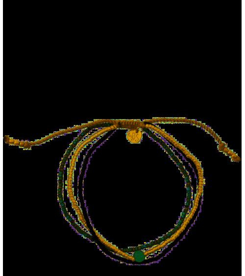 A beautiful story Bloom Aventurine Gold bracelet