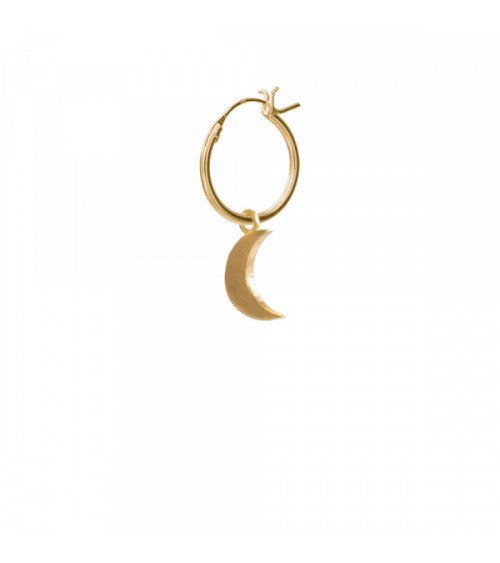 A Beautiful story Big Moon Sterling Silver Gold-Plated Hoop Earring