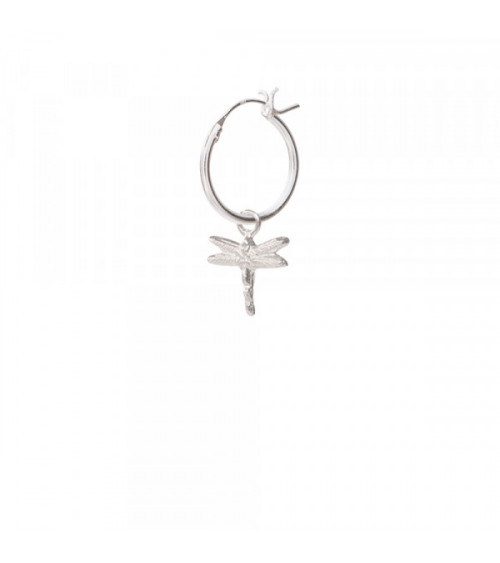 A Beautiful story Dragonfly Sterling Silver Hoop Earring