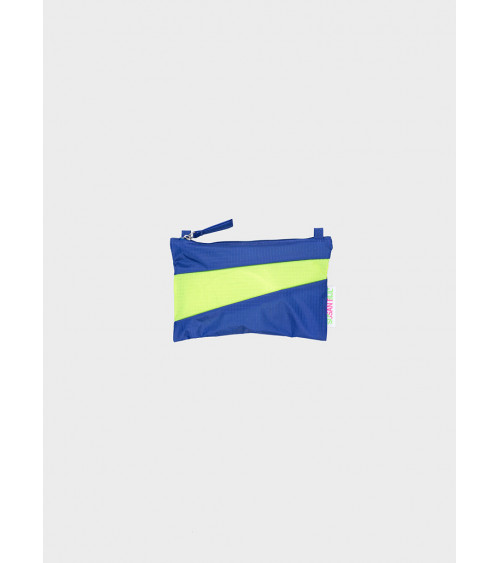 Susan Bijl Pouch Electric Blue & Fluo Yellow S