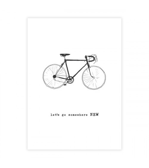 A Beautiful Story Greeting Card Bicycle
