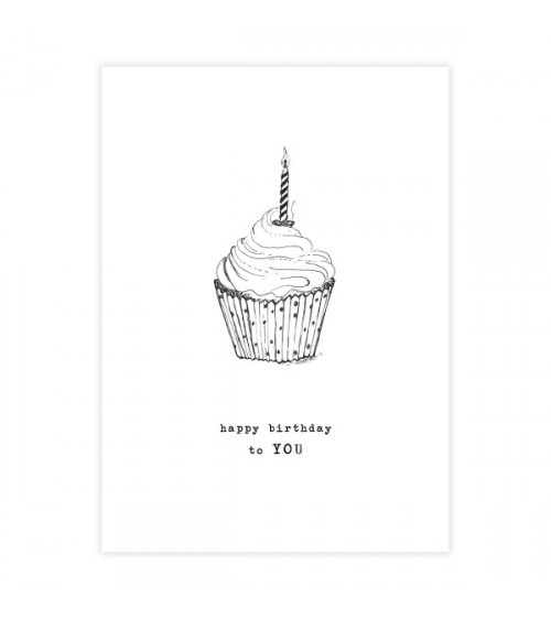 A Beautiful Story Wenskaart Cupcake