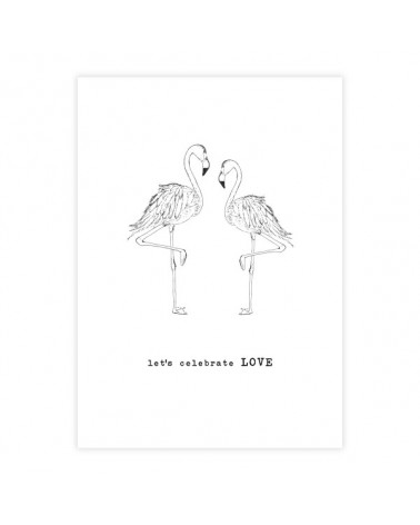 A Beautiful Story Greeting Card Flamingos