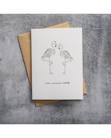 A Beautiful Story Greeting Card Flamingos