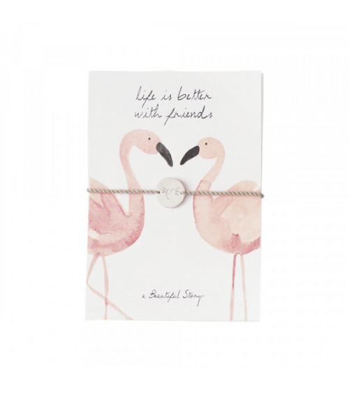 A Beautiful Story Jewelry Postcard Flamingos