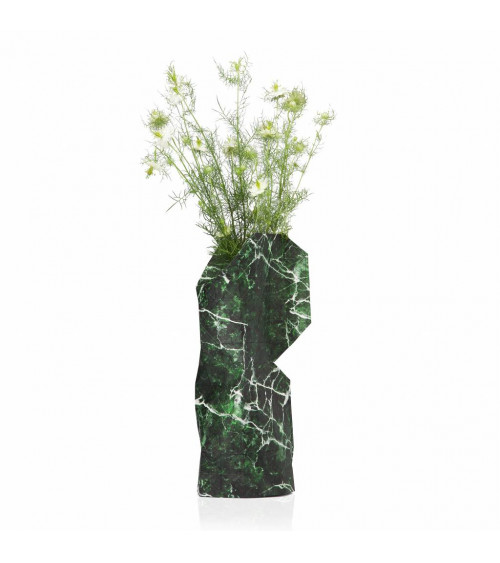 Tiny Miracles Paper Vase Marble Green