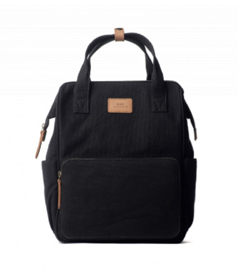 O My Bag Billie's Backpack Black Waxed