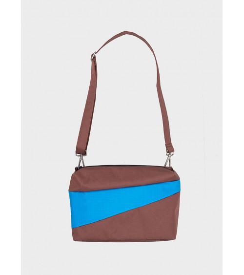 Susan Bijl Bum Bag Brown & Sky Blue M