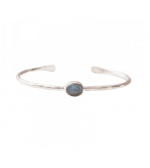 A Beautiful story Moonlight Labradorite Silver Bracelet