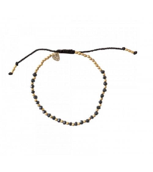 A Beautiful Story Black Onyx gold bracelet