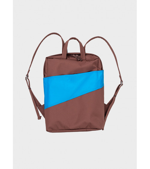 Susan Bijl Backpack Brown & Sky Blue