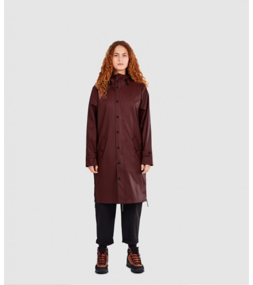 Maium Raincoat Red Brown