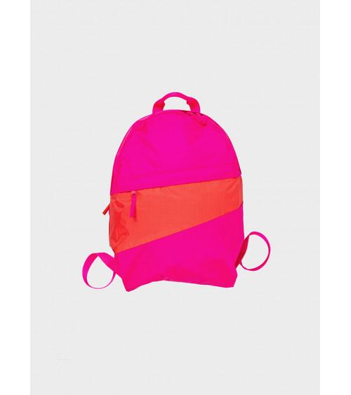 Susan Bijl Foldable Backpack Pretty Pink & Red Alert