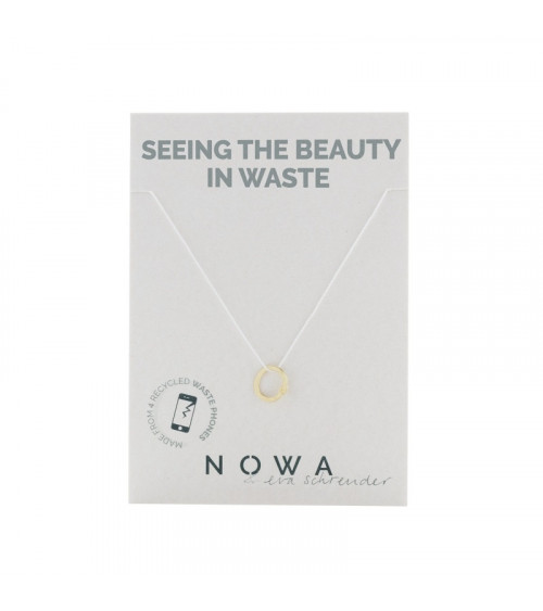 Nowa Circular Pendant - 100% recycled gold plated