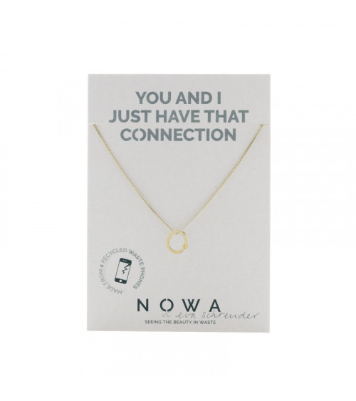 Nowa Circulaire Ketting - 100% recycled verguld zilver
