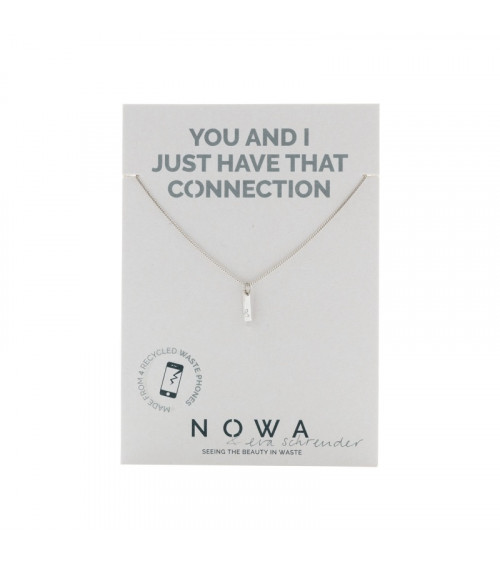Nowa Staafje Ketting - 100% recycled zilver
