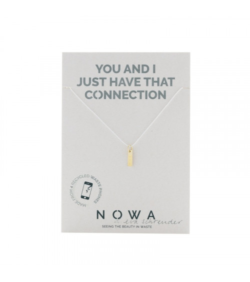 Nowa Bar Pendant - 100% recycled gold plated