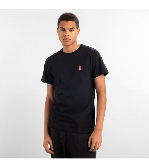 Dedicated T-shirt Stockholm Peach Zwart