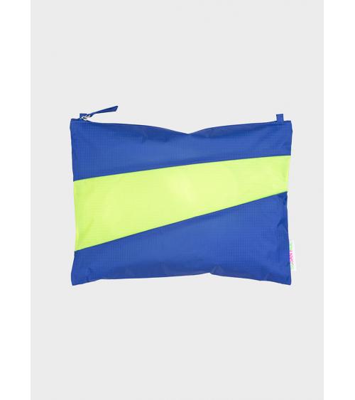 Susan Bijl Pouch Electric Blue & Fluo Yellow