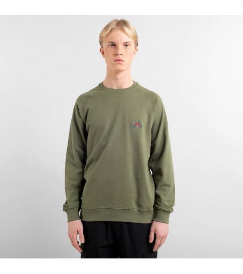 Dedicated Sweatshirt Malmoe Stitch Bike Leaf Green