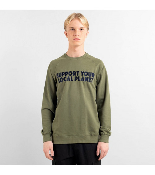 Dedicated Sweatshirt Malmoe Bold Support Leaf Green