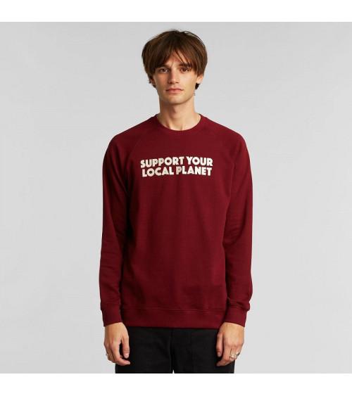 Dedicated Sweatshirt Malmoe Bold Support Burgundy