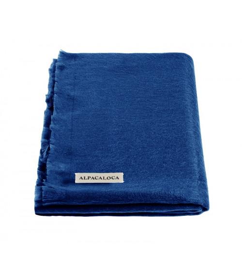 Alpaca Loca Sjaal Glanzend Blauw