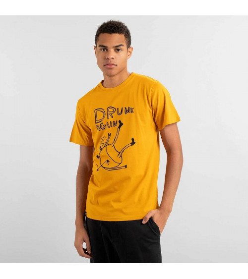 Dedicated T-shirt Stockholm Drunk Golden Yellow