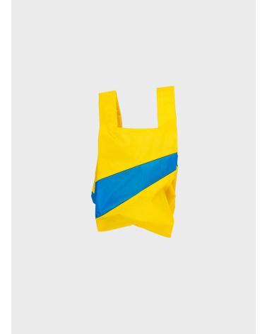 Susan Bijl Shoppingbag TV Yellow & Blueback S